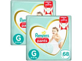 Kit Fraldas Pampers Premium Care Pants