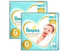 Kit Fraldas Pampers Premium Care Tam. G