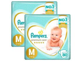 Kit Fraldas Pampers Premium Care Tam. M