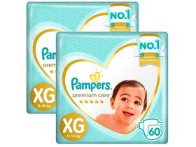 Kit Fraldas Pampers Premium Care Tam. XG