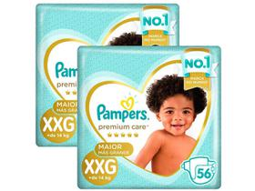 Kit Fraldas Pampers Premium Care Tam. XXG