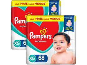 Kit Fraldas Pampers Supersec Tam. XG 11 a 15kg