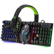 Kit Gamer Teclado Semi Mecanico, Mouse Led e Headset Haiz