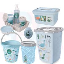 Kit Higiene E Acessórios P/O Quarto Do Bebe Dinossauro
