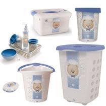 kit higiene e acessórios p/ o quarto do bebe  urso ted plasutil