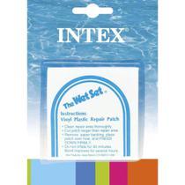 Kit Intex com 06 Adesivos de Reparo Manutenção Inflável Boia Piscina Colchão 59631