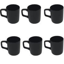 Kit Jogo 6 Mini Canecas Decorativas Café Chá Xícaras Cerâmica Esmaltada 80Ml Várias Cores