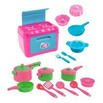 Kit Jogo De Cozinha Infantil Panelinhas + Kit Fogão Le Chef
