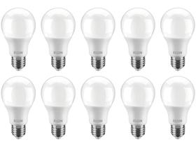 Kit Lâmpadas LED 10 Unidades Branca E27 9W