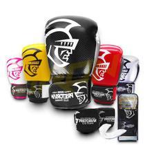 Kit Luva Muay Thai Boxe Pretorian Elite Bandagem Bucal C Bag