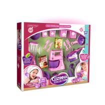 Kit panelinhas de brinquedo show de cozinha rosa com acessorios divertidos