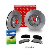 Kit par disco e jogo pastilha de freio dianteiro - palio 2001 a 2009 / palio weekend 2001 a 2009 / siena 2001 a 2009 - kit00206