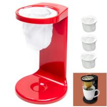 Kit Passador De Café Individual Coador Mini Cafézinho Com 3 Refil - Ou