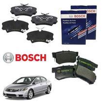 Kit Pastilha Freio Dianteira E Traseira New Civic 2006/2016 Bosch BB71/BB554