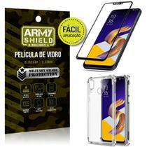 Kit Película 3D Fácil Aplicação Zenfone 5 ZE620KL Película 3D + Capa Anti Impacto - Armyshield