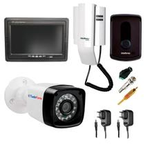 "Kit Porteiro Intelbras IPR8010 com 01 Câmera Infra Bullet e Tela Monitor 7"" LCD Colorido"