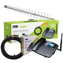 Kit Pro celular de mesa 4G wi-fi quadband 1 chip + antena fullband 15dbi + cabo 12M - PROKS-5040W