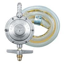 Kit Registro Regulador de Gás com Mangueira 1,20m e 2 Abraçadeiras para Fogão - 1kg/h