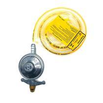 Kit Regulador De Gás e Mangueira Registro Para Botijão de Cozinha 1 kg