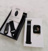 kit Relógio Smartwhat P70 Pro Original Rose + 2 Pulseiras + Fone Bluetooth