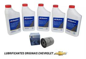 Kit Revisao 5 Oleos 5w30 Filtro De Oleo Original Chevrolet Blazer s10 vectra astra zafira