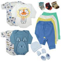 Kit Roupa De Bebe Maternidade 14 Peças Enxoval Body E Mijão