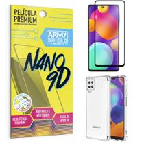 Kit Samsung M62 Película Premium Nano 9D + Capa Anti Impacto - Armyshield