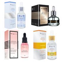 Kit Sérum Facial Max Love Tratamento Skincare Rosa Mosqueta + Vitamina C + Clareador + Pro Aging