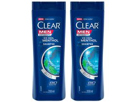 Kit Shampoo Clear Anticaspa Ice Cool Menthol