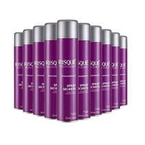 Kit Spray Secante Esmalte Para Unhas Risqué Technology 300ml - 10 Unidades