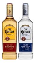 Kit Tequila Jose Cuervo Ouro + Prata 750ml