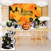 Kit Totem Display Decoração Halloween + Painel 150x100