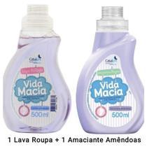 Kit Vida Macia 500ml Bebê: Lava Roupas + Amaciante Amêndoas ou Camomila