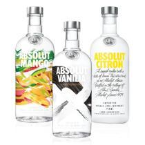 Kit Vodka Absolut Flavors Mais Vendidas