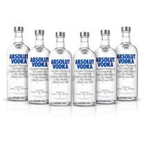 Kit Vodka Absolut Original 1L - 6 Unidades