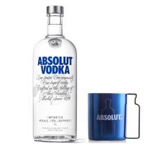 Kit Vodka Absolut Original 1L + Caneca Plastico 300ml