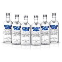 Kit Vodka Absolut Original 750ml - 6 Unidades