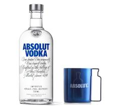 Kit Vodka Absolut Original 750ml + Caneca plástico 300ml