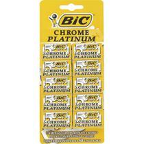 Lâmina de Barbear Chrome Platinum - 10 embalagens c/ 5 unidades - BIC