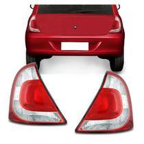 Lanterna Traseira Clio 12 13 14 Preta Hatch Bicolor