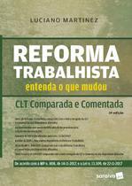 Livro - Reforma trabalhista: Entenda o que mudou: CLT comparada e comentada - 2ª edição de 2018