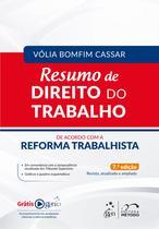 Livro - Resumo de Direito do Trabalho - De acordo com a Reforma Trabalhista