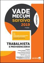 Livro - Vade Mecum Saraiva: Trabalhista e previdenciário - 3ª edição de 2019