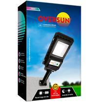 Luminaria Solar 100W Sensor Poste Led Pontente 12h Preta Oversun