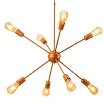 Lustre Pendente Sputnik Atomo Aranha Cobre Moderno Abstrato
