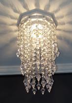 Lustre Plafon Cristal Acrílico Decorar Sala Iluminação Decoração Quarto Luminária Banheiro17x27 Gabi