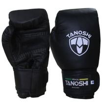 Luva Boxe Preta para MuayThai Sanda Kick Black CX Tanoshi