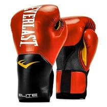 Luva de Boxe Everlast Pro Style Elite - Vermelho e Preto
