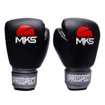 Luva de Boxe MKS Combat New Prospect Black Silver