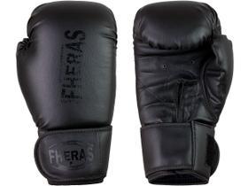 Luva de Boxe Muay Thai MMA Pro All Black Fheras 16Oz
